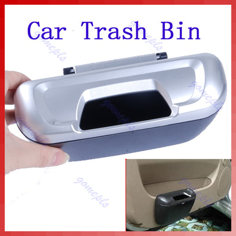 Vehicle Car Auto Trash Rubbish Bin Storage Box Container Black/silver