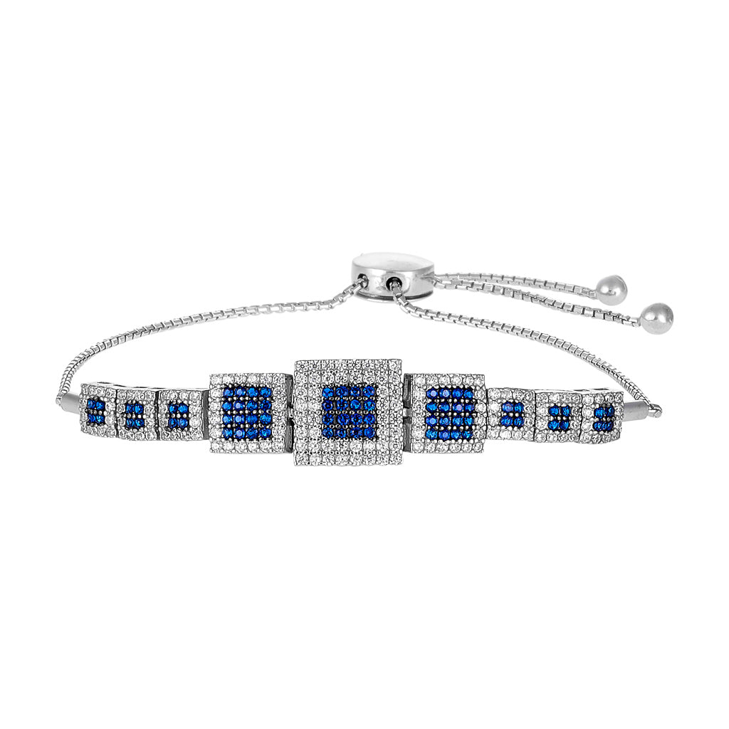 sterling faith image sapphires asterling products bolo white set silver bracelet with