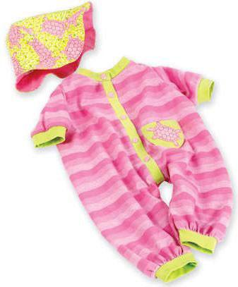"Madame Alexander 02558 Pink Turtle Onesie & Hat for 19-20"" Babies - Peazz.com"