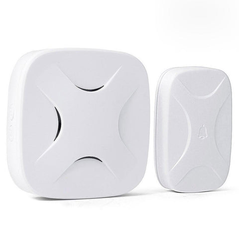 Wireless Waterproof Cross Doorbell / Panic Button, H3 Series, 52 Chimes, White - 1,000 Ft Range - WarehouseSpot