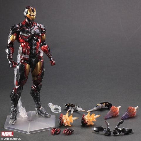 "Sen-ti-nel ENX32248 Iron Man Variant ""Marvel Comics"" Play Arts Action Figure - Peazz.com - 7"