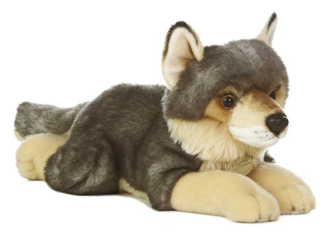 "Aurora 10871 World Miyoni Wolf Plush, 16"" - WarehouseSpot"