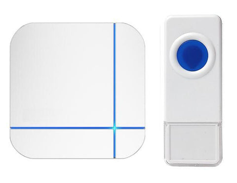 Wireless Waterproof Doorbell / Panic Button, B11 Series, 52 Chimes, White - 1,000 Ft Range