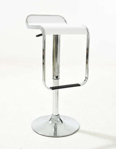 "Mochi Furniture Modern PU Adjustable Swivel Bar Stool, Seat Height 23"" to 31"" - White/Chrome  (Set of 2)"
