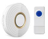 Wireless Waterproof Doorbell / Panic Button, D2 Series, 52 Chimes, White - 1,000 Ft Range - WarehouseSpot