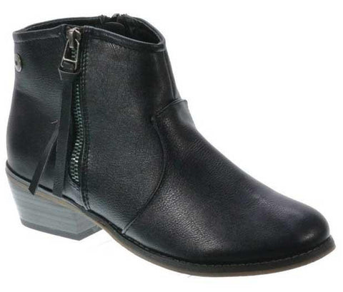 Dorado-11 Western Style Stacked Heel Zip Up Boot - WarehouseSpot