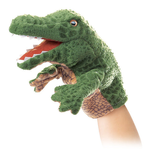 Folkmanis 2928 Little Alligator Hand Puppet - WarehouseSpot