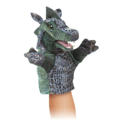 Folkmanis 2964 Little Dragon Hand Puppet - WarehouseSpot