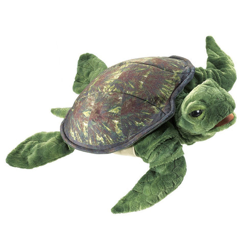 Folkmanis 3036 Sea Turtle Hand Puppet - WarehouseSpot