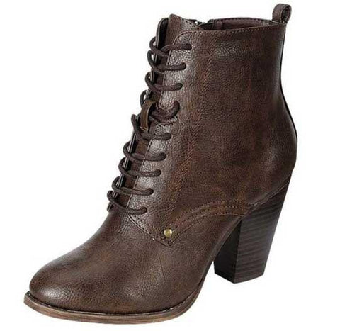 Heather-31 Lace-Up Combat Boot - Peazz.com