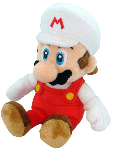 "Nintendo Official Super Mario Fire Mario Plush, 8"" - Peazz.com"