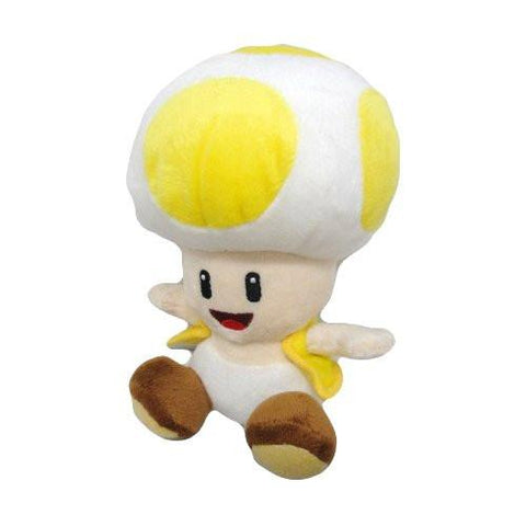 "Nintendo Official Super Mario Toad Plush, 6"", Yellow - Peazz.com"