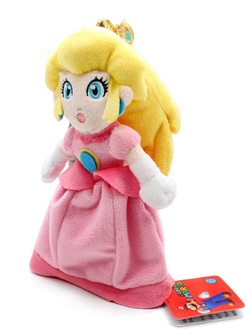 "Nintendo Official Super Mario Plush 8"" Princess Peach - Peazz.com"