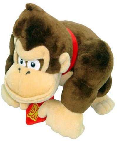 "Nintendo Official Super Mario Donkey Kong Plush, 9"" - Peazz.com"