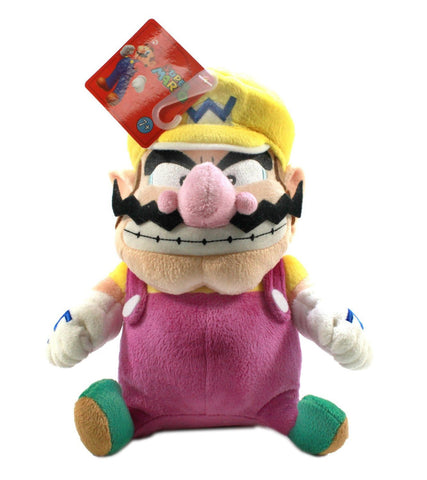 Nintendo Official Super Mario Plush - Wario, 9-Inch - Peazz.com