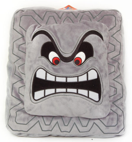 "Nintendo Official Super Mario Thwomp Cushion/Pillow Plush, 12"" - Peazz.com"