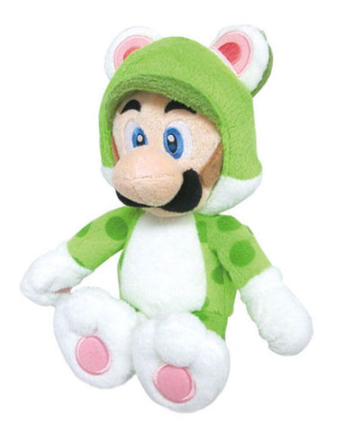"Nintendo Official Super Mario Neko Cat Luigi Plush, 10"" - Peazz.com"