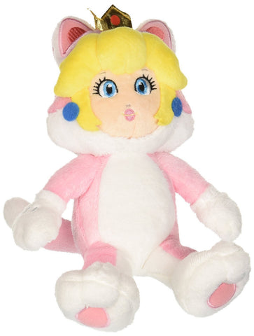 "Nintendo Official Super Mario Neko Cat Peach Plush, 10"" - Peazz.com"