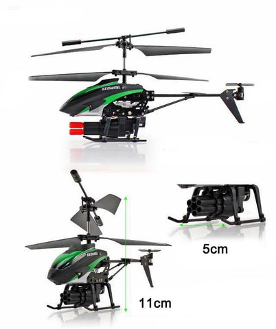 Merske MK10031 Missile Launching 3.5Ch Rc Remote Control Helicopter with Gyro - Green - Peazz.com - 4