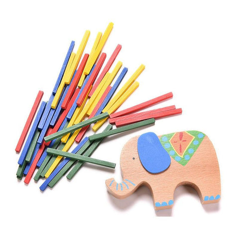 Merske MK10090 Educational Elephant or Camel Balancing Blocks Wooden Toy - Assorted - Peazz.com - 5