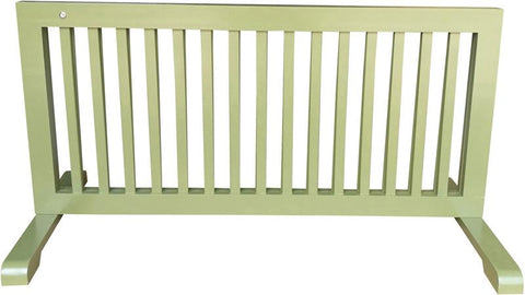 MDOG2 MK814-721WDBN Free Standing Step Over Gate - Woodbine - Peazz.com - 3