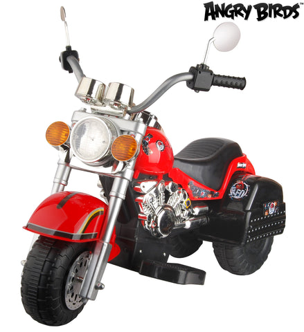 "Angry Birds ""Red"" 6V Battery Operated Kids Chopper Style Ride On Motorcycle - Red - WarehouseSpot"