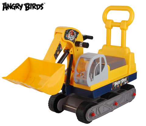 "Angry Birds ""Red"" Ride-on 6-Wheel Bulldozer with Back - Yellow - WarehouseSpot"