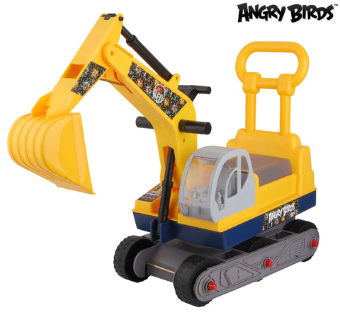 "Angry Birds ""Red"" Ride-on 6-Wheel Excavator On Wheels with Back - Yellow - WarehouseSpot"
