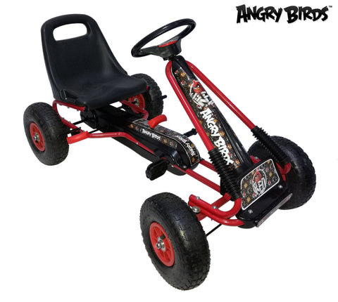 "Angry Birds ""Red"" Racing Pedal Go-Kart w/ Pneumatic Tire - Black - WarehouseSpot"