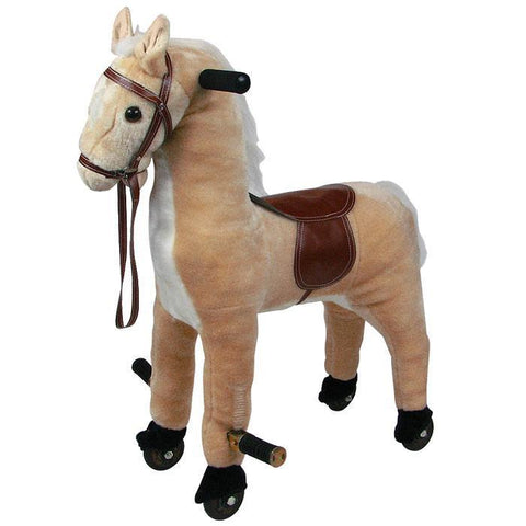 Happy Trails Plush Walking Horse with Wheels and Foot Rest (HW4000009)