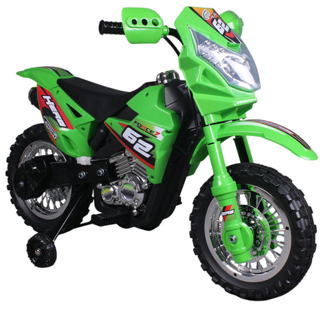 Vroom Rider VR093 Battery Operated 6V Kids Dirt Bike (Green) - Peazz.com