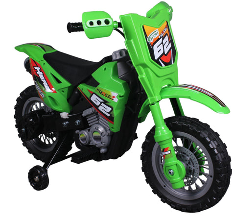 Vroom Rider VR098 6V Battery Operated Dirt Bike (Green) - Peazz.com