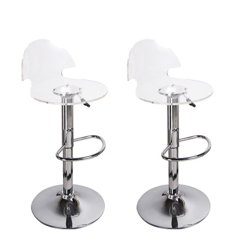 Furnistars Transparent Acrylic Bar Stools (Set of two) - Peazz.com