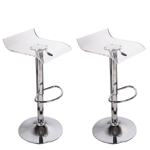 Furnistars Karlsborg Transparent Acrylic Micro Back Bar Stools (Set of two) - Peazz.com