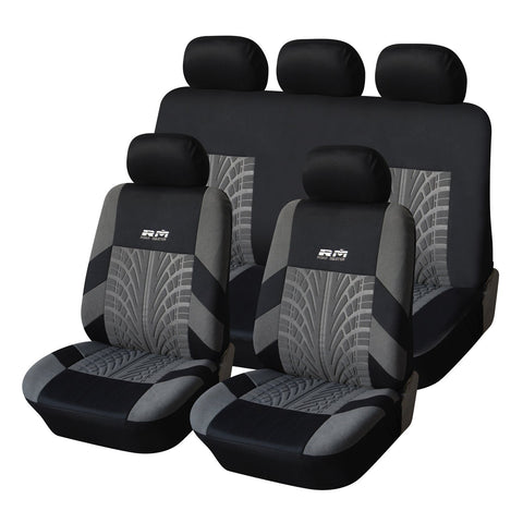 Furnistars Black/Gray Universal Fit Car Seat Cover - Peazz.com