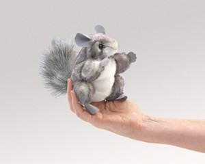 Folkmanis 2759 Mini Chinchilla - WarehouseSpot