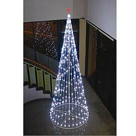 HomeBrite 61502 144 R/C Outdoor LED Cone Tree w/collapsible base Trees