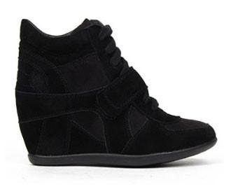 Metro-01W Suede Lace Up Wedge Sneaker - Peazz.com