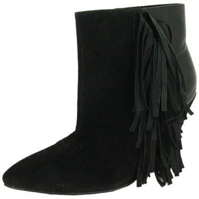 Maddox-07 Fringe Wedge Heel Ankle Boot Bootie - Peazz.com