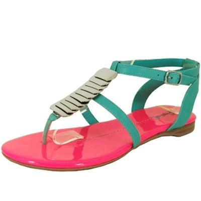 Agency-300 Metal Embellished Flat Sandal - WarehouseSpot