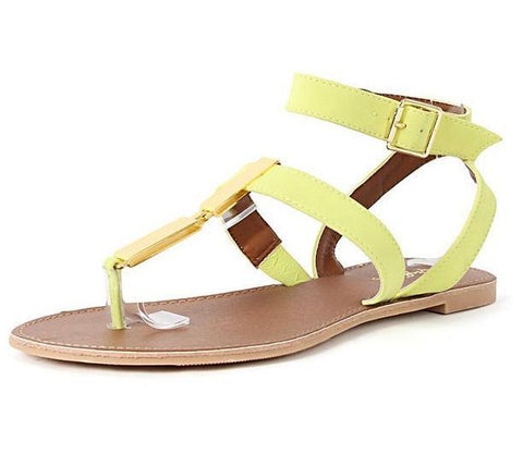 Athena-710 T-Strap Thong Sandals - WarehouseSpot