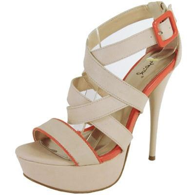Dazzling-89 Strappy Open Toe Platform Sandal - WarehouseSpot