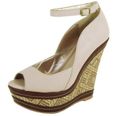 Finder-162 Peep Toe Ankle Strap Wedge - WarehouseSpot