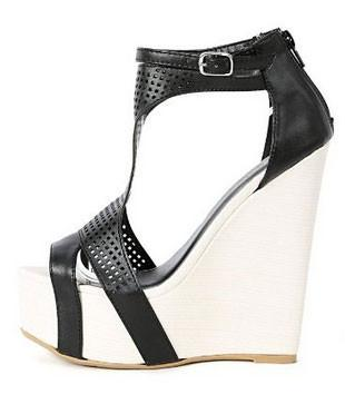 Florence-31 Netted Two Tone Wedges - WarehouseSpot