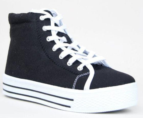 MANIAC-05 Street Casual Lace Up High Top Platform Sneaker Shoe - Peazz.com
