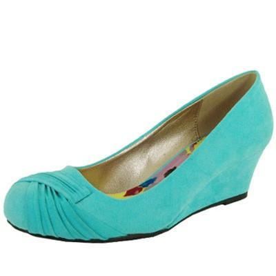 Morris-02 Suede Ruched Round Toe Wedge - Peazz.com