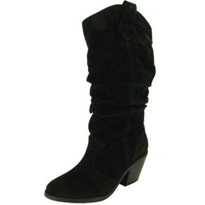 Muse-01 Suede Cowboy Knee High Boot - Peazz.com