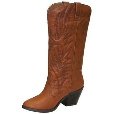 Muse-64 Western Embroidered Cowboy Knee High Boot - Peazz.com