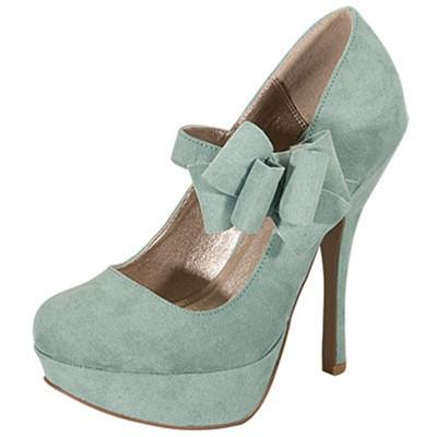 Onyx-145 Bow Mary Jane Round Toe Pump - Peazz.com