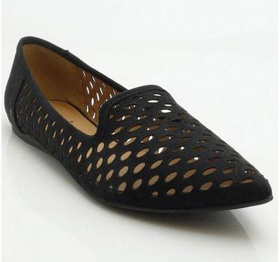 Pointer-26 Pointy Toe Perforated Smoking Loafer - Peazz.com